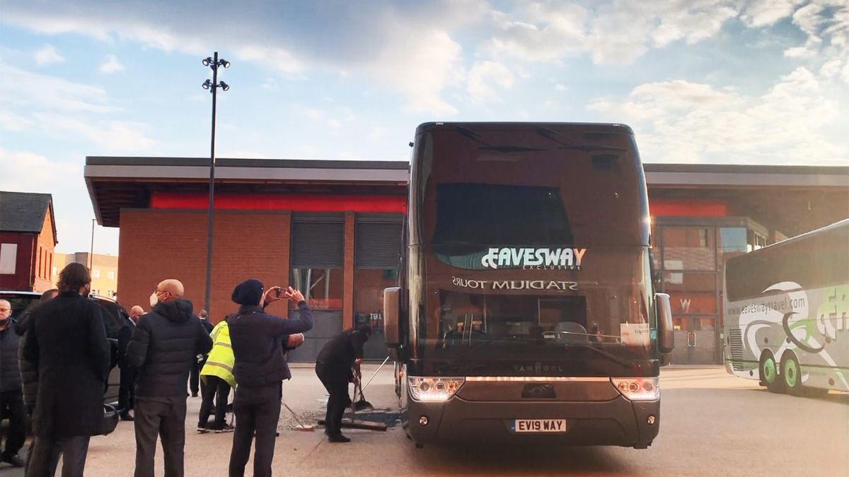 Der Bus von Real Madrid wurde in Liverpool attackiert