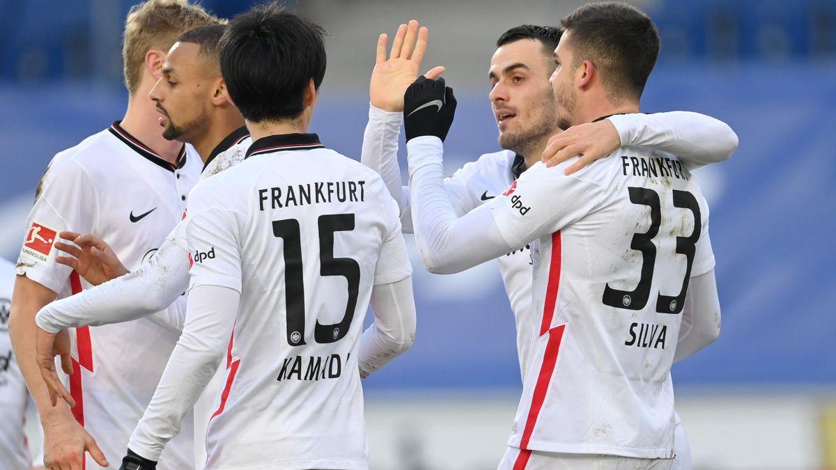 Frankfurt jubelt gegen Bielefeld