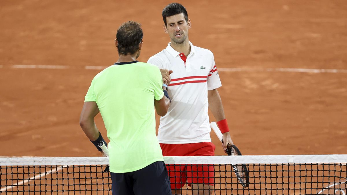 Novak Djokovic (r.) und Rafael Nadal