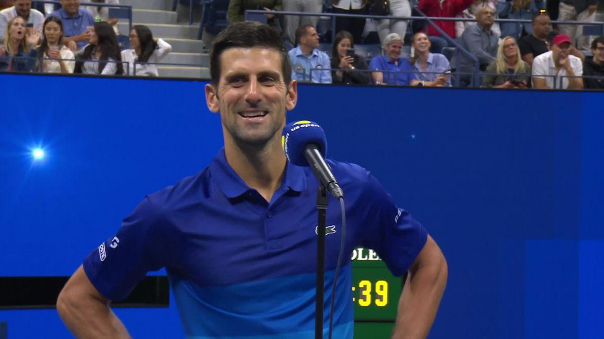 Tennis US OPEN-round 2-interview Djokovic