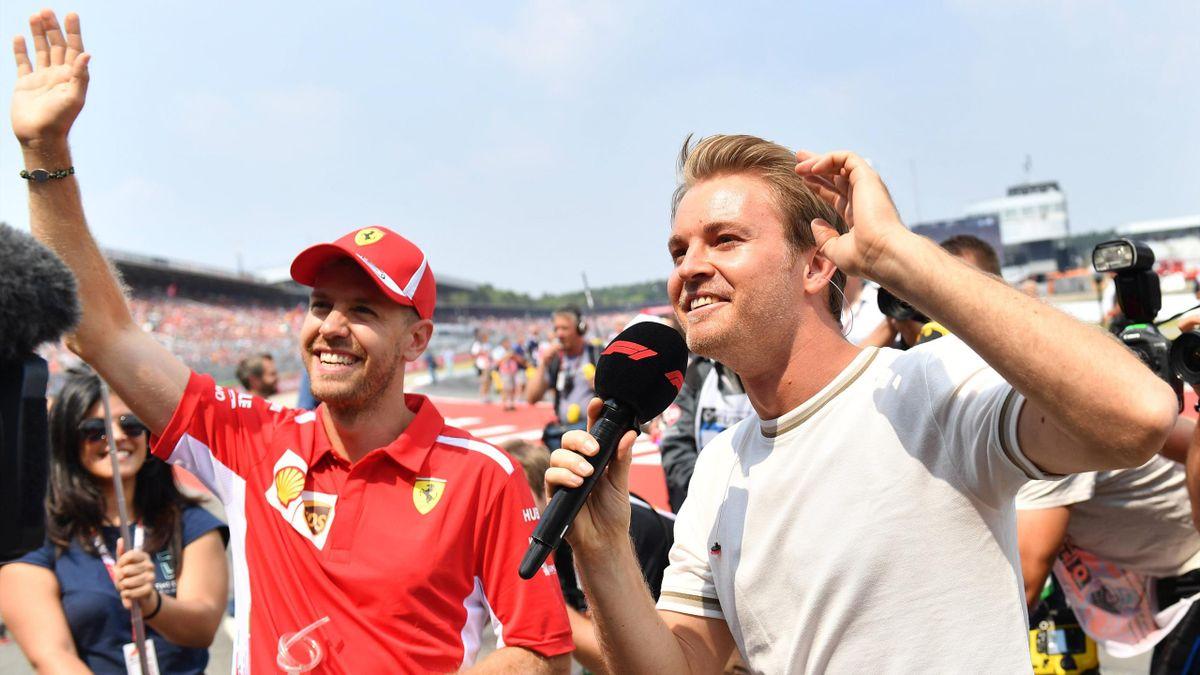 Sebastian Vettel (links) und Nico Rosberg