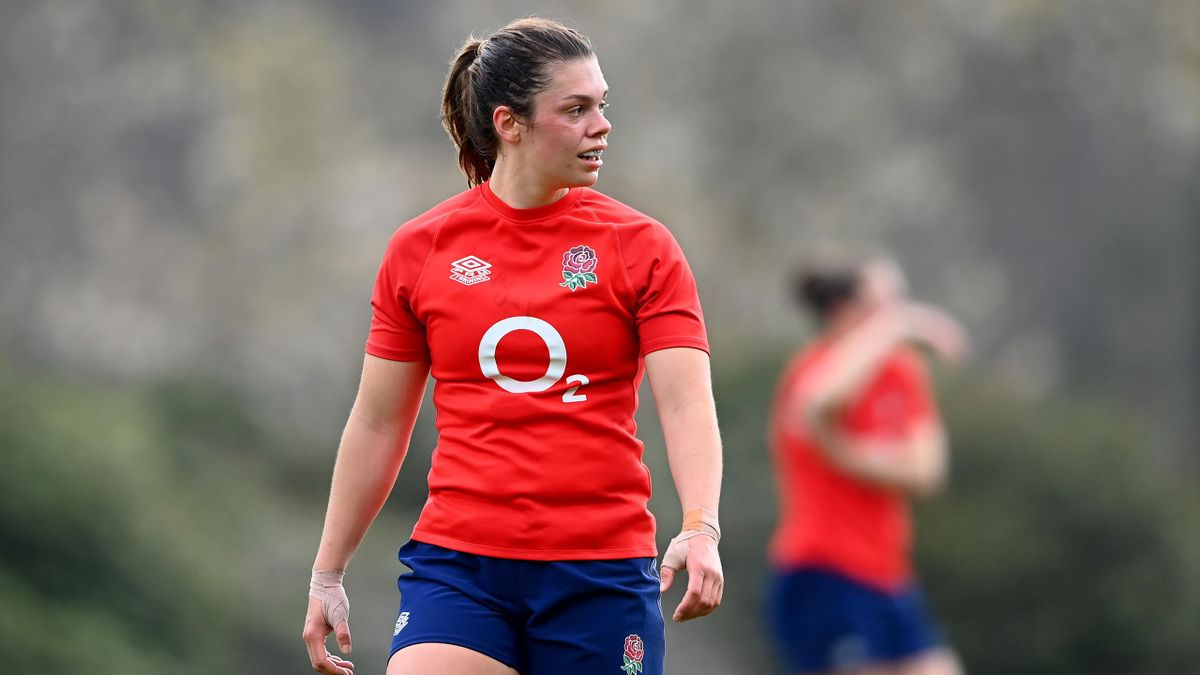 Helena Rowland in England training, Pennyhill Park on April 21, 2021 in Bagshot, England