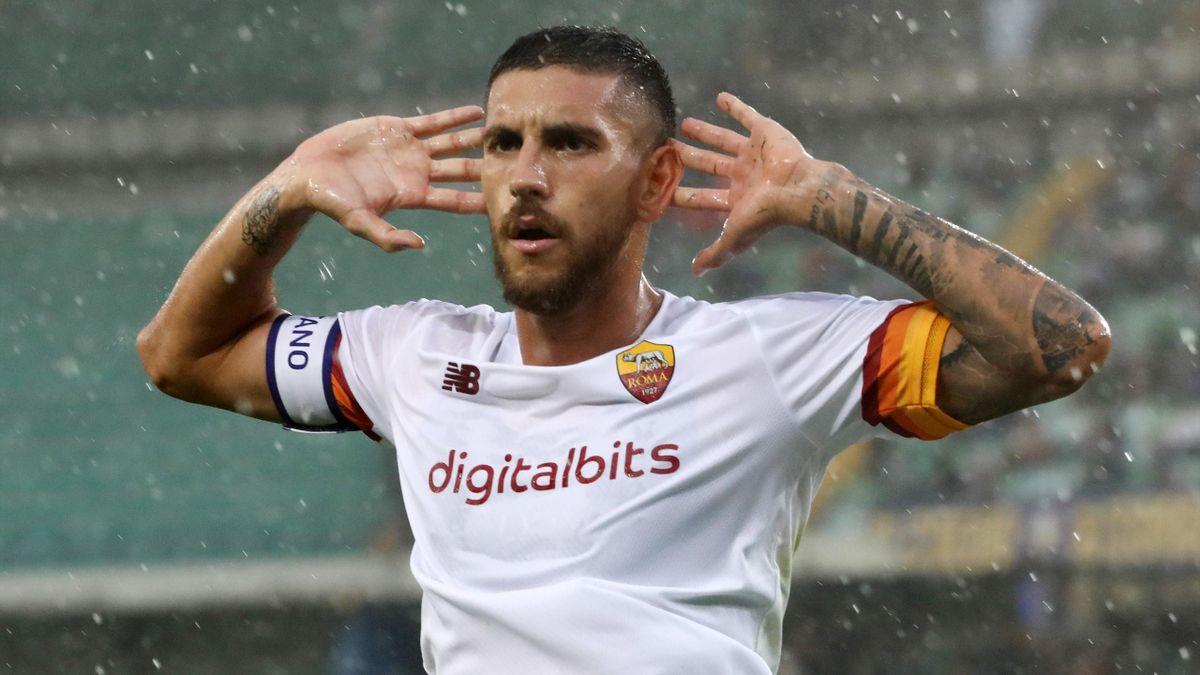 Esultanza Lorenzo Pellegrini, Verona-Roma, Serie A, Getty Images