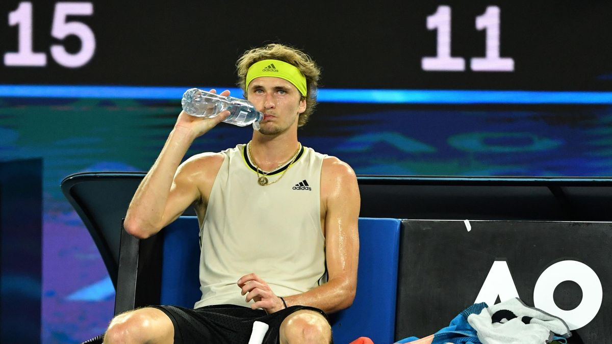 Alexander Zverev im Viertelfinale der Australian Open 2021 gegen Novak Djokovic