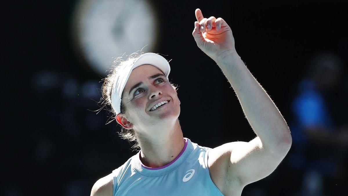Jennifer Brady im Halbfinale der Australian Open 2021 gegen Karolina Muchova