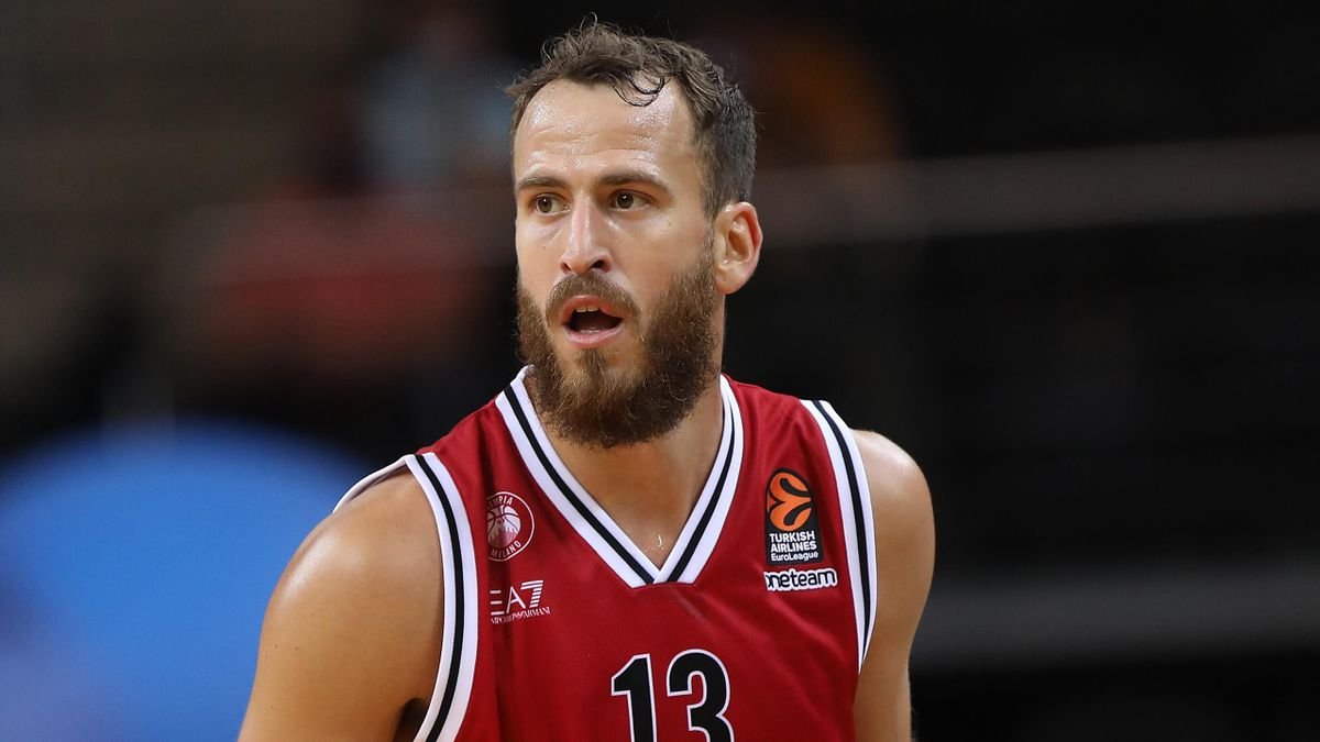 Sergio Rodriguez, #13 of AX Armani Exchange Milan competes during in action during the Turkish Airlines EuroLeague We're Back Preseason Tour Kaunas Championship game between Zalgiris Kaunas vs AX Armani Exchange Milan