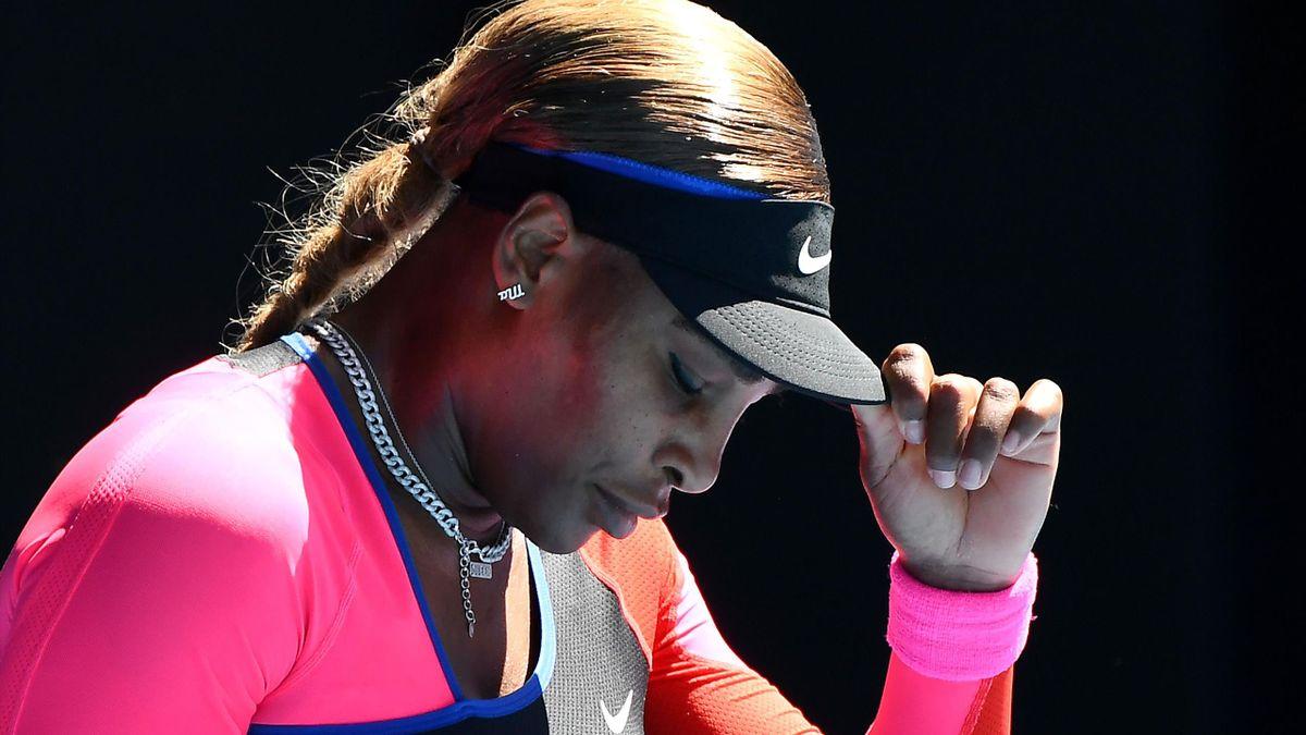 Serena Williams im Halbfinale der Australian Open 2021 gegen Naomi Osaka