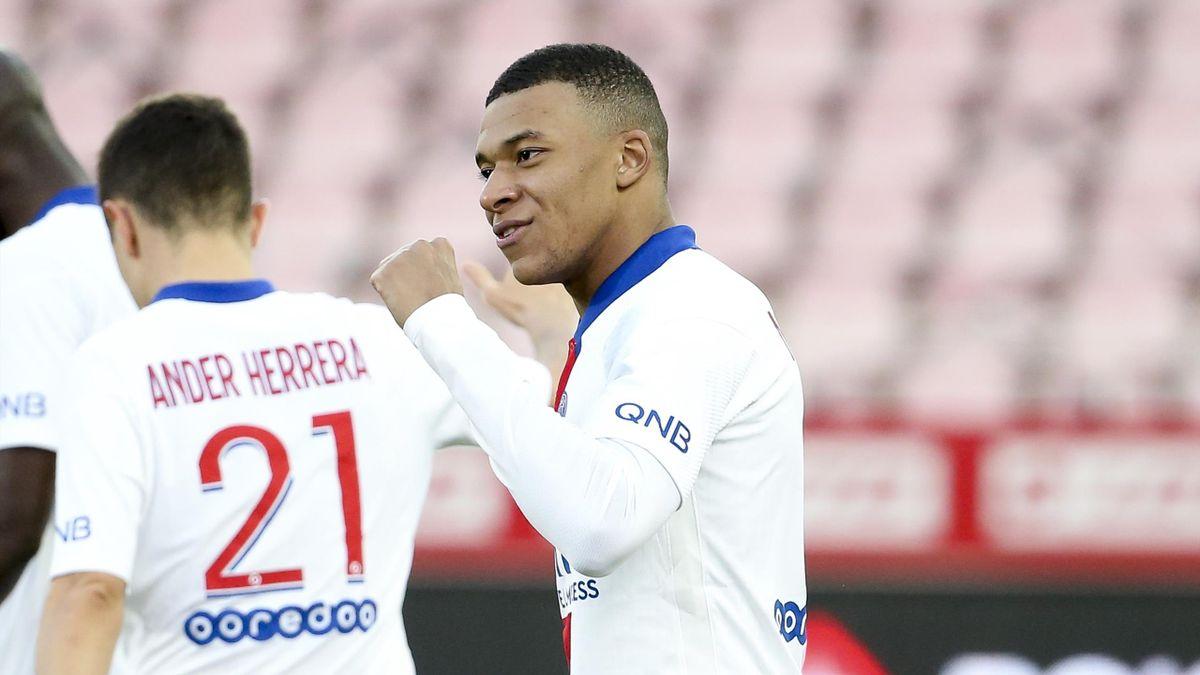 Kylian Mbappé (PSG) face à Dijon - 2021
