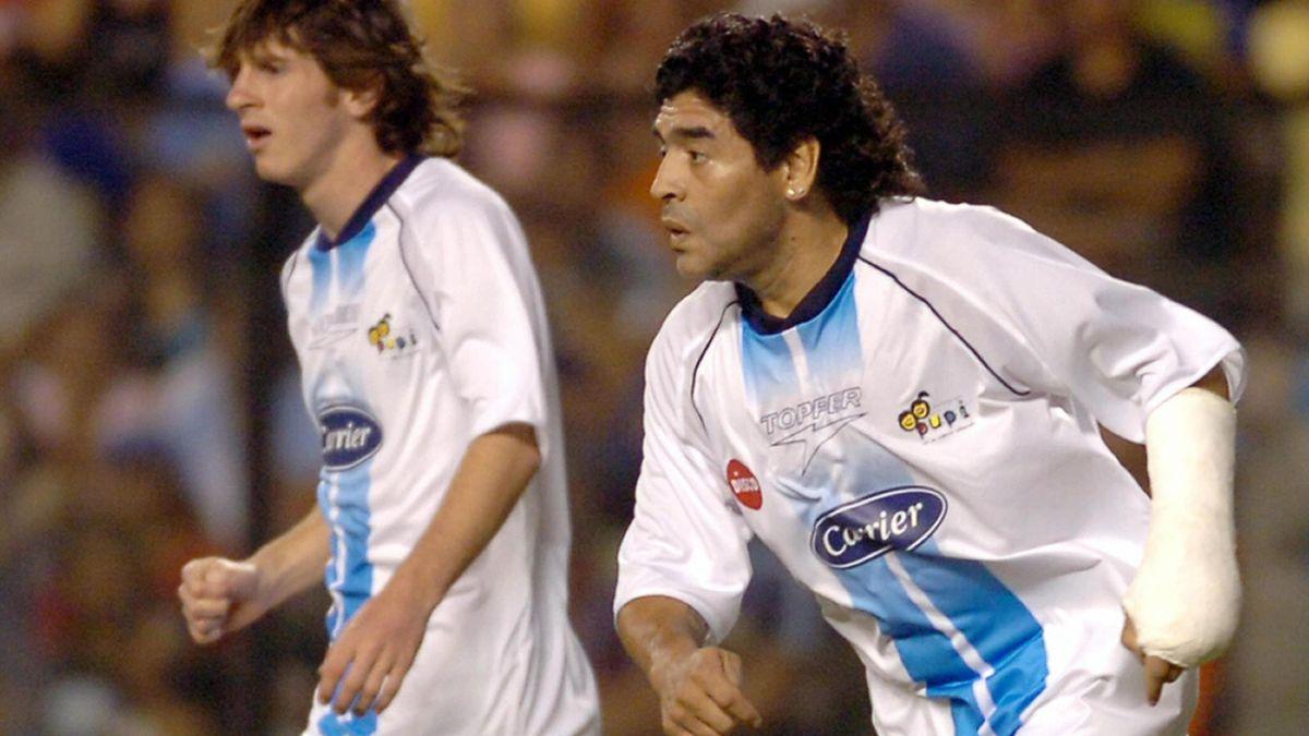 Messi și Maradona au fost coechipieri în 2005