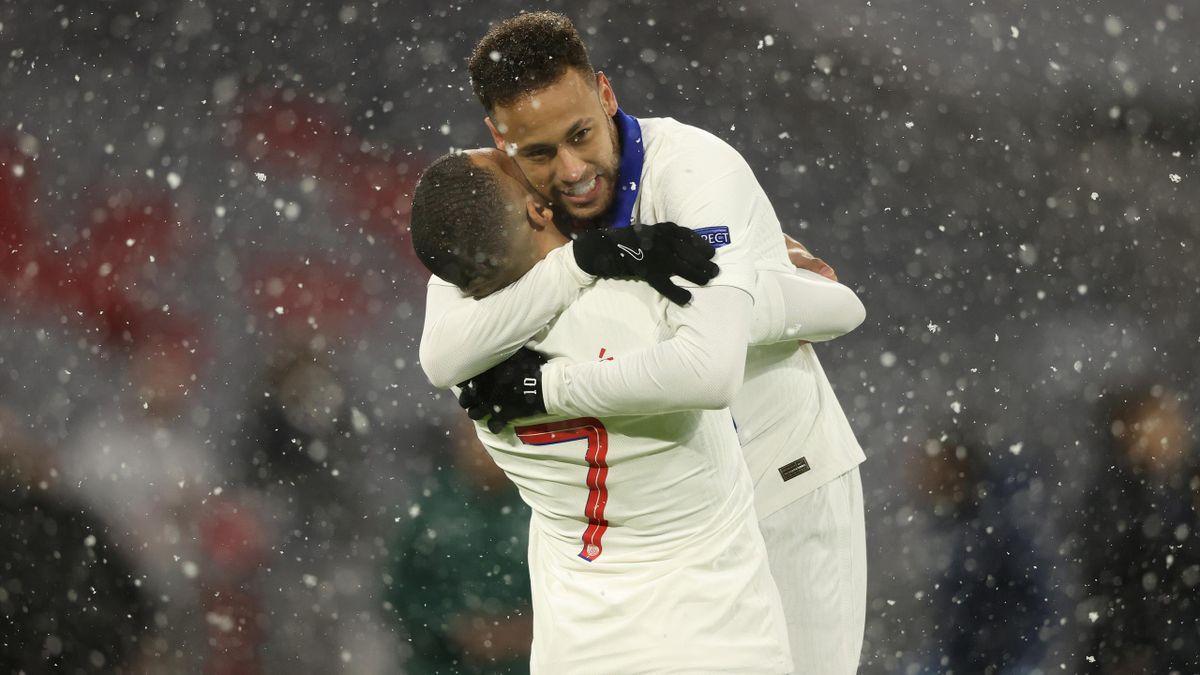 Mbappé et Neymar sur la pelouse du Bayern en Ligue des champions