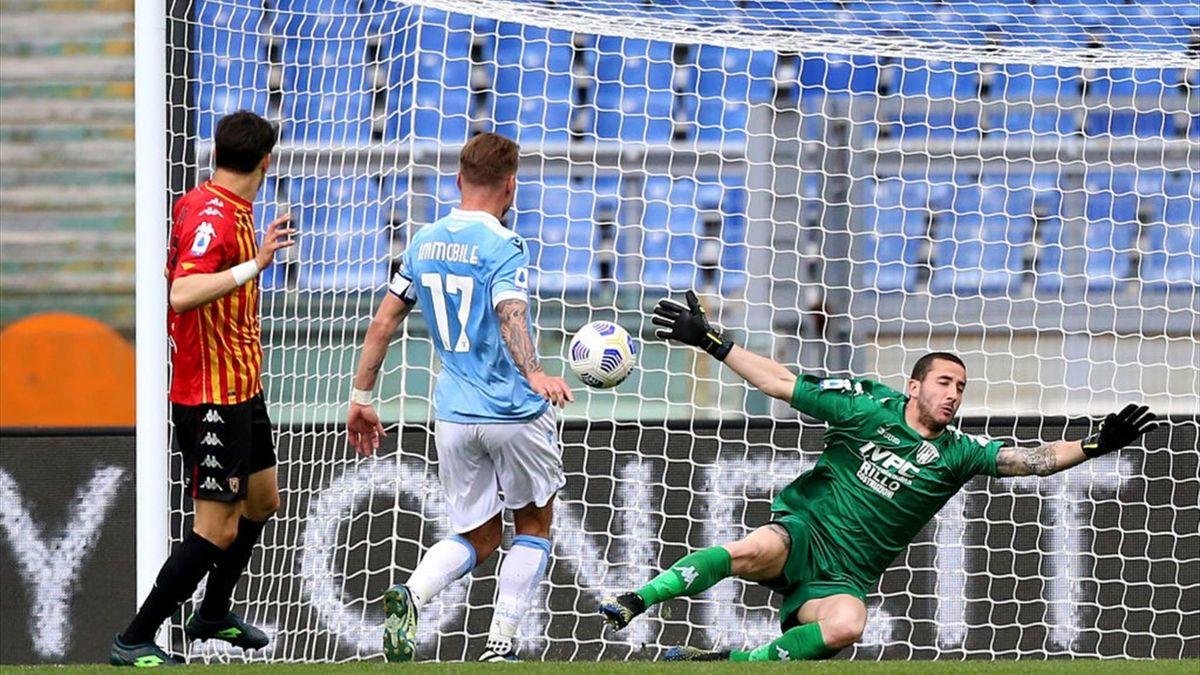 Immobile a segno in Lazio-Benevento - Serie A 2020/2021 - Getty Images