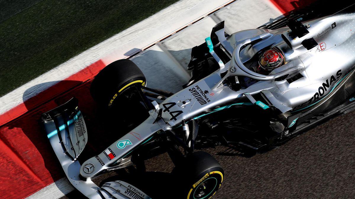 Lewis Hamilton (Mercedes) au Grand Prix d'Abou Dabi 2019