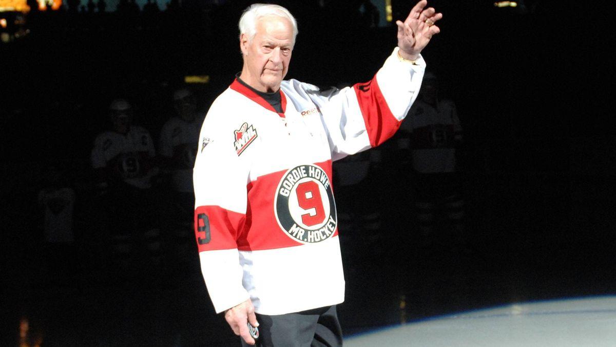 A true NHL legend: Gordie Howe, aka 'Mr Hockey'