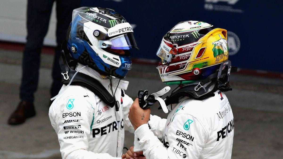 Lewis Hamilton et Lewis Hamilton (Mercedes) au Grand Prix du Brésil 2018