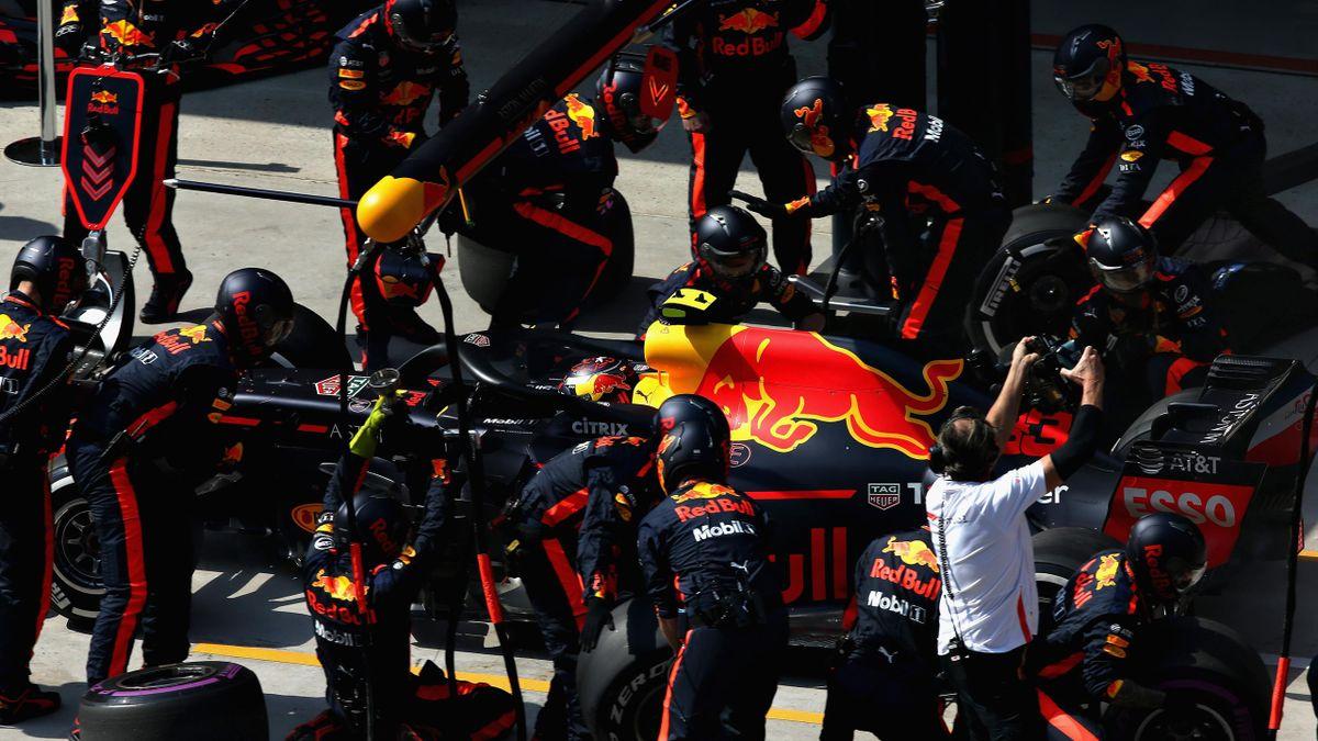 Cambio de neumáticos de Red Bull en China