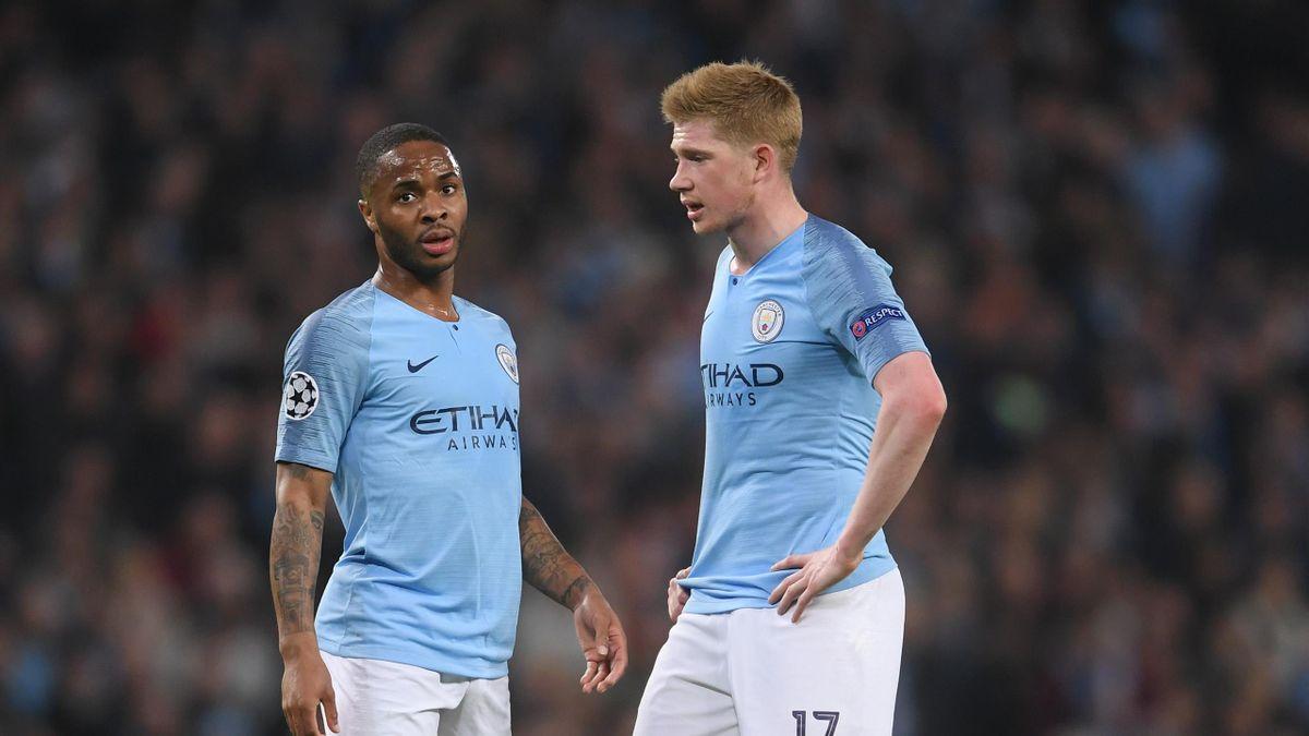Raheem Sterling și Kevin de Bruyne (Manchester City)