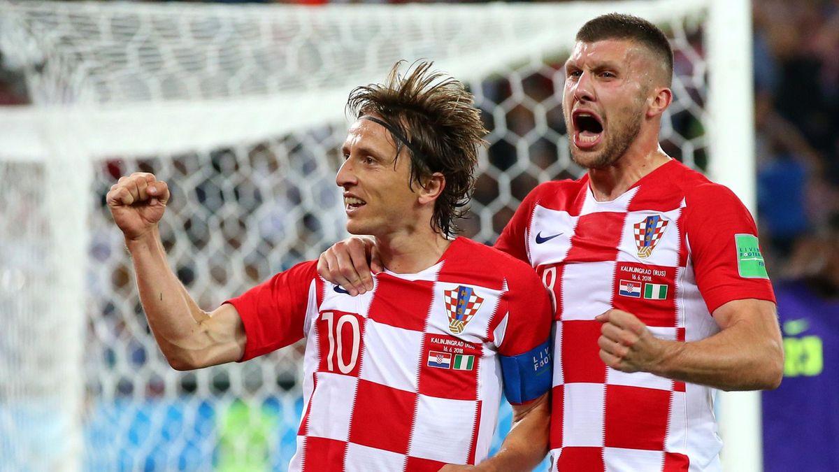 Luka Modric bei Kroatien - Nigeria