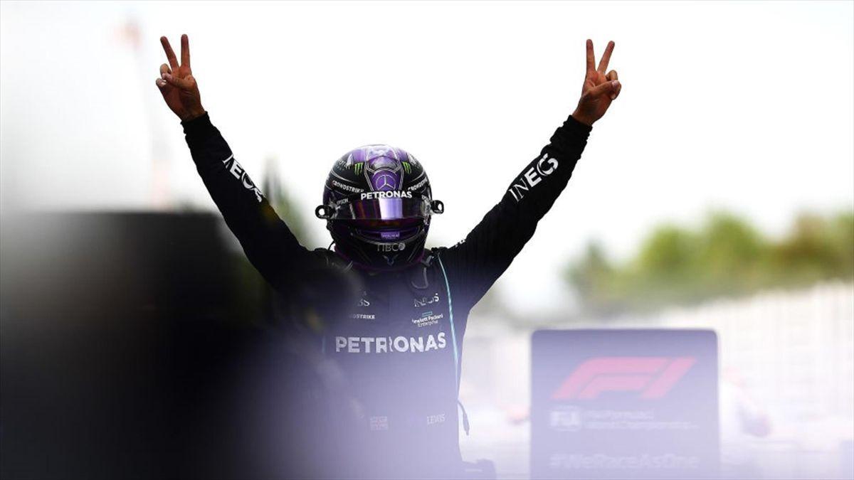 Lewis Hamilton (Mercedes) au Grand Prix d'Espagne 2021