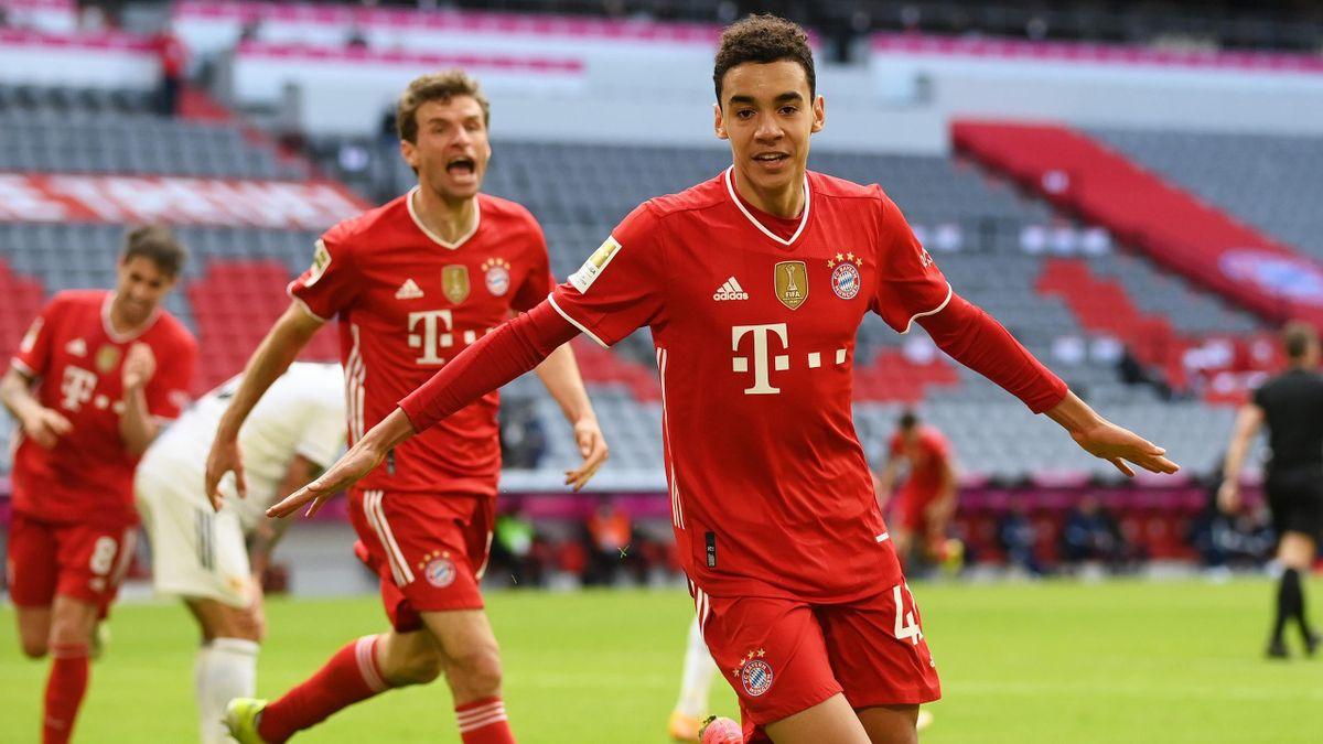 Bayern-Youngster Musiala jubelt nach dem Tor zum 1:0 gegen Union Berlin