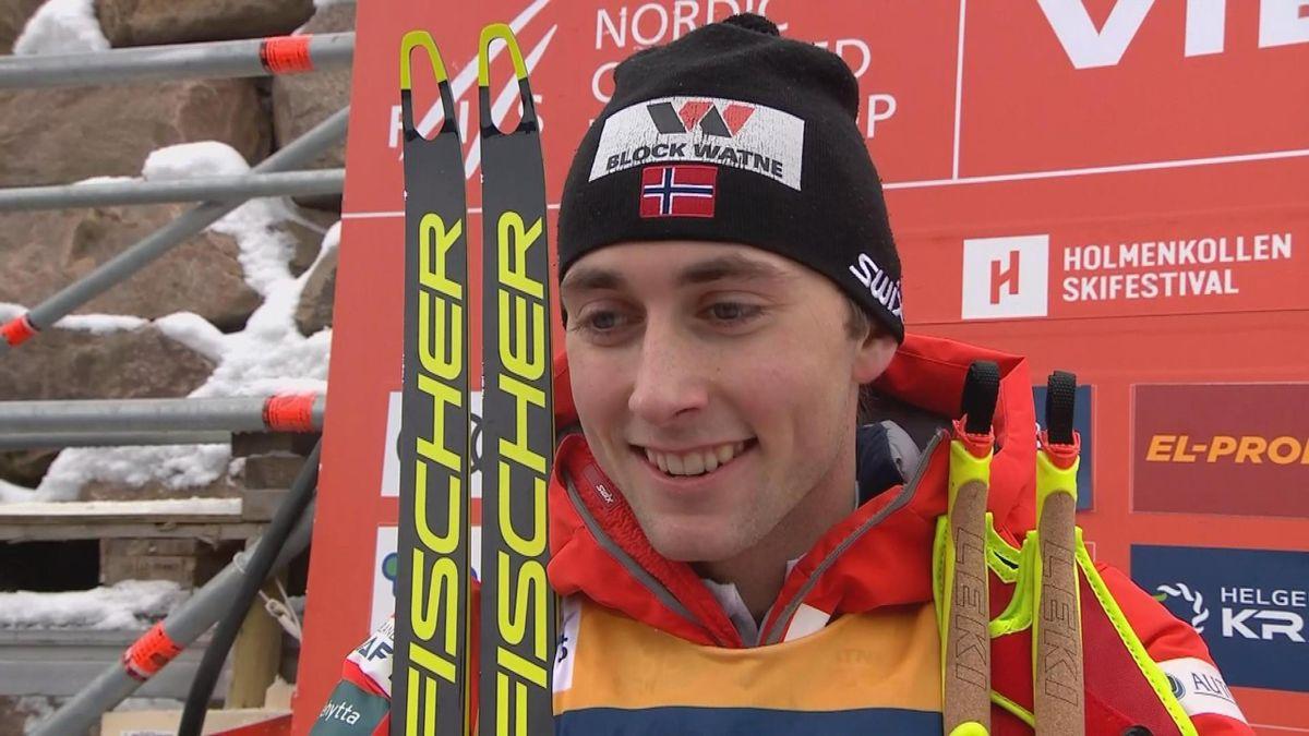 Nordic Combined : Oslo : Interview winner Riiber