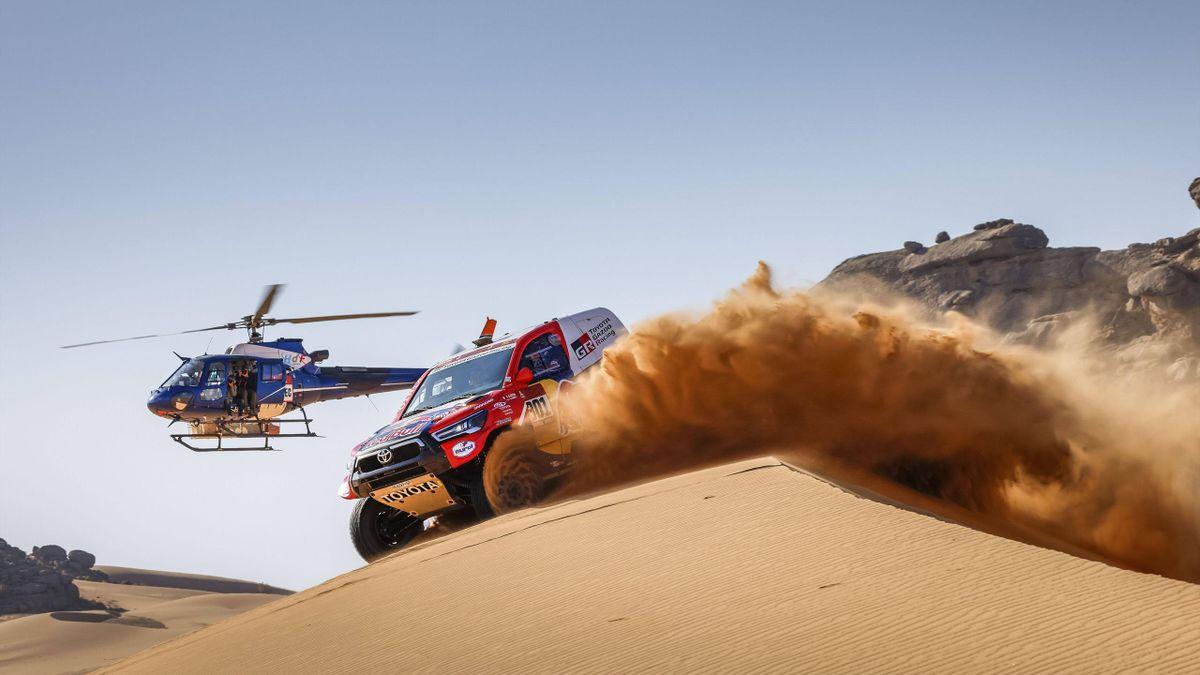 Nasser Al-Attiyah (Toyota) bei der 43. Rallye Dakar