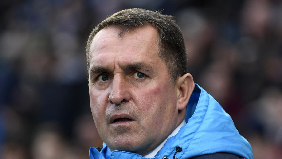 Martin Allen manager of Chesterfield United looks on