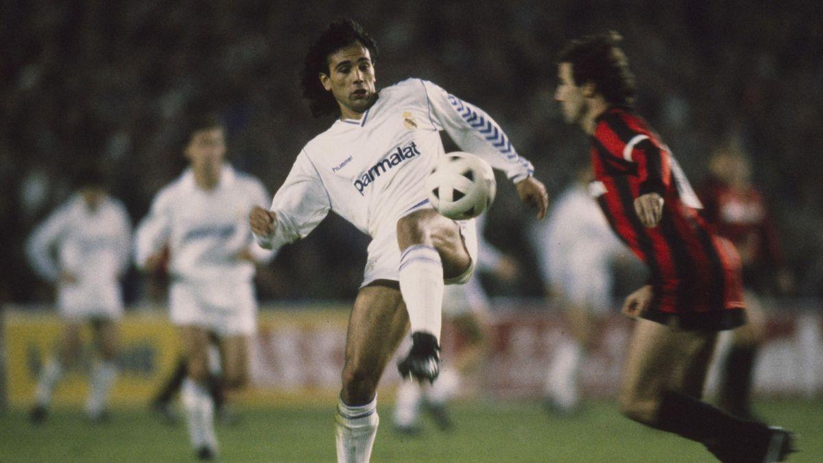 Hugo Sanchez e Franco Baresi - Real Madrid-Milan Coppa dei Campioni 1988-89