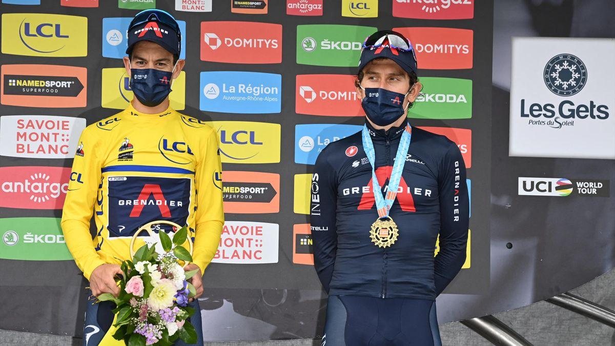 Richie Porte és Geraint Thomas a 2021-es Dauphinén