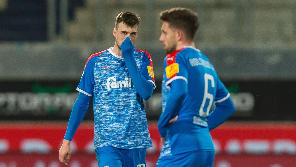Jonas Meffert (links) und Aahmet Arslan - Holstein Kiel