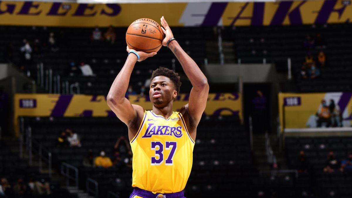 Kostas Antetokounmpo, avec les Los Angeles Lakers le 19 avril 2021 face au Utah Jazz