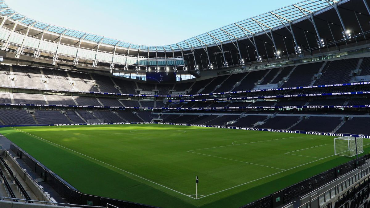 A general view of inside the new stadium during the Tottenham Hotspur New Stadium Fan Event on December 15, 2018 in London,United Kingdom.