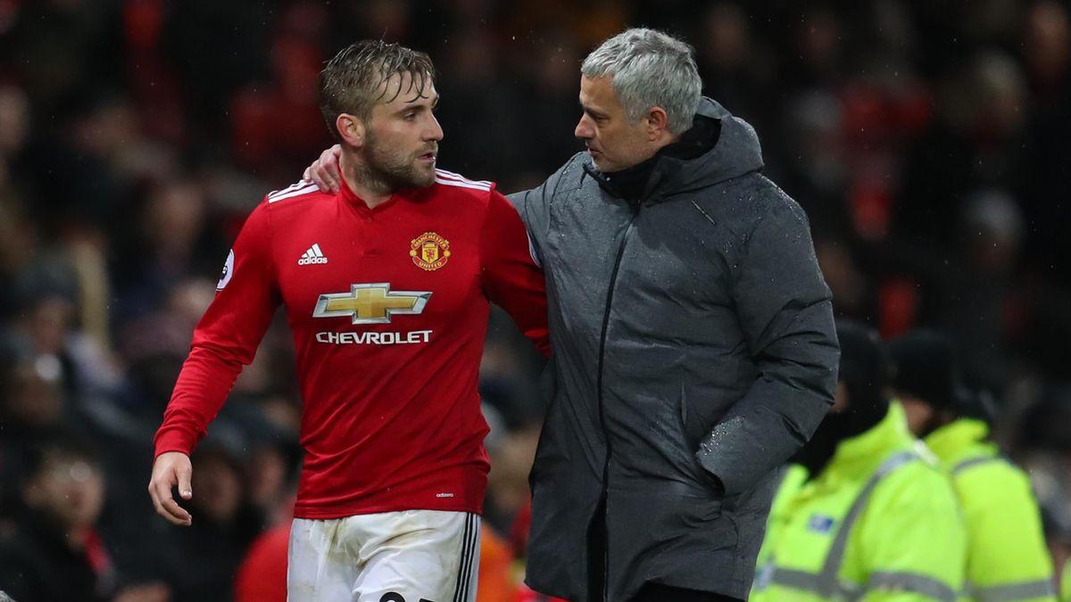 Luke Shaw e José Mourinho ai tempi dello United