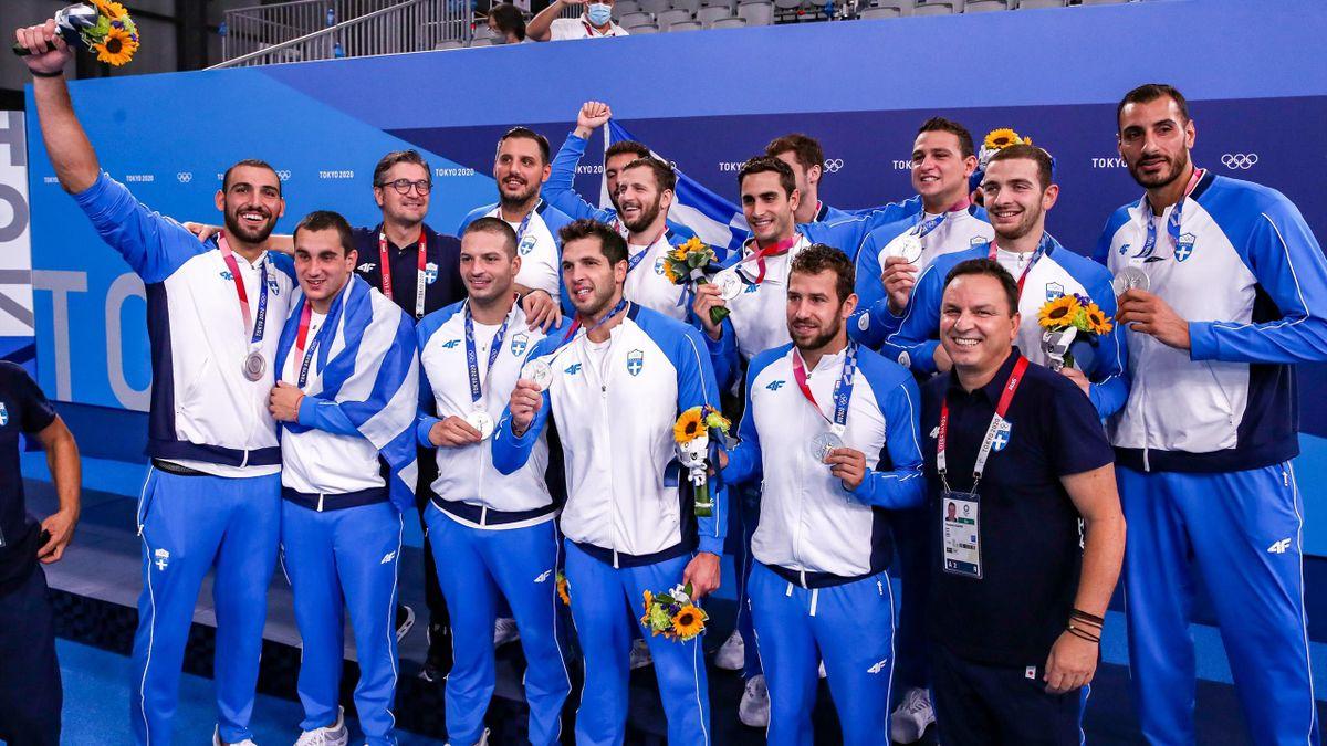 Hellas sølvlag i vannpolo fra OL i Tokyo