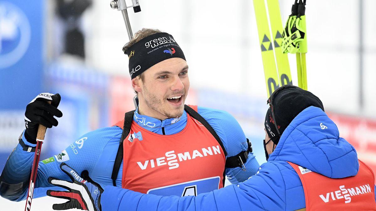 Emilien Jacquelin a offert la victoire aux Bleus lors du relais d'Anterselva, le 23 janvier 2021