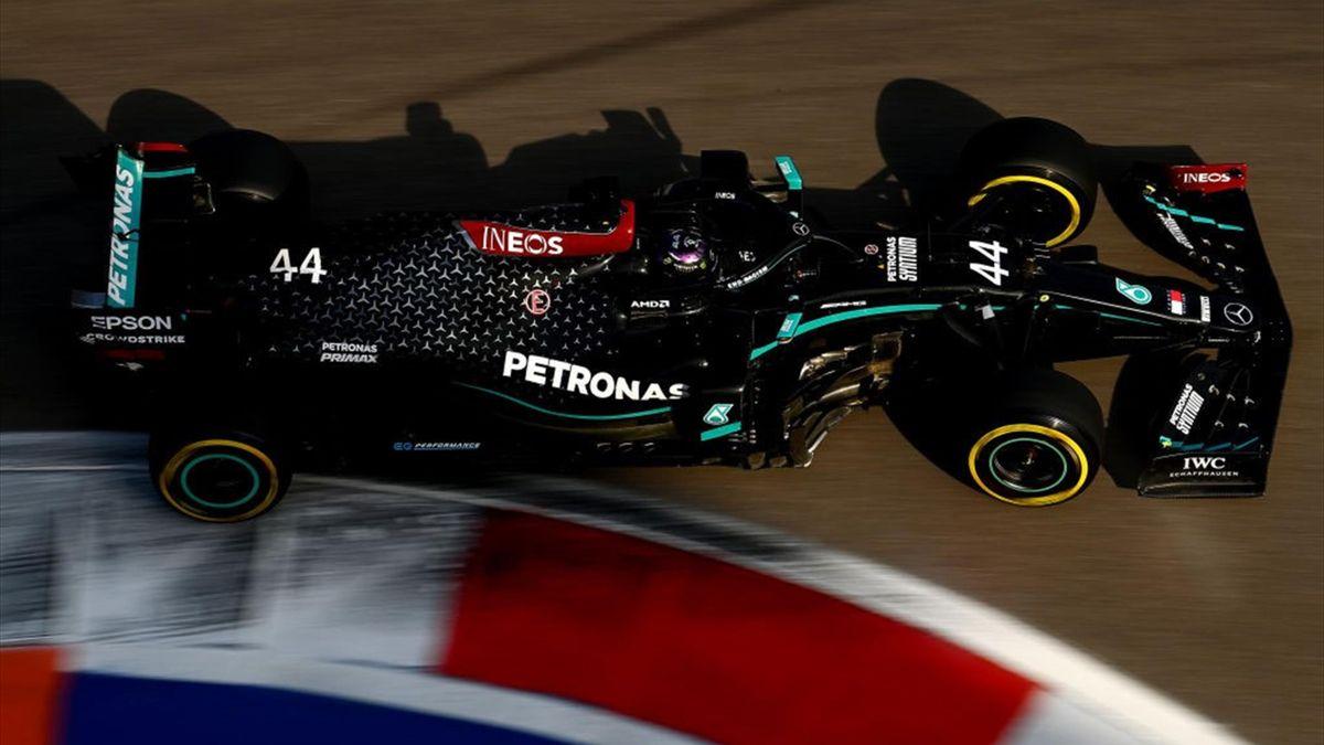Lewis Hamilton (Mercedes) au Grand Prix de Russie 2020