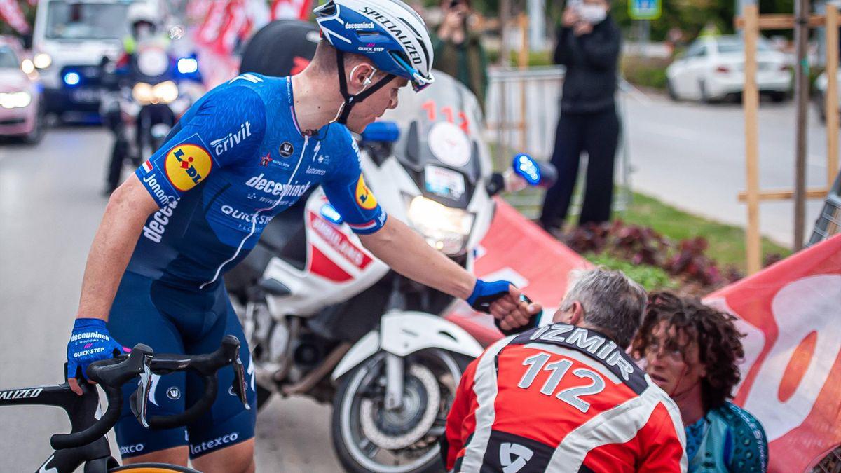 Fabio Jakobsen (l.) und Noah Granigan - Tour of Turkey 2021