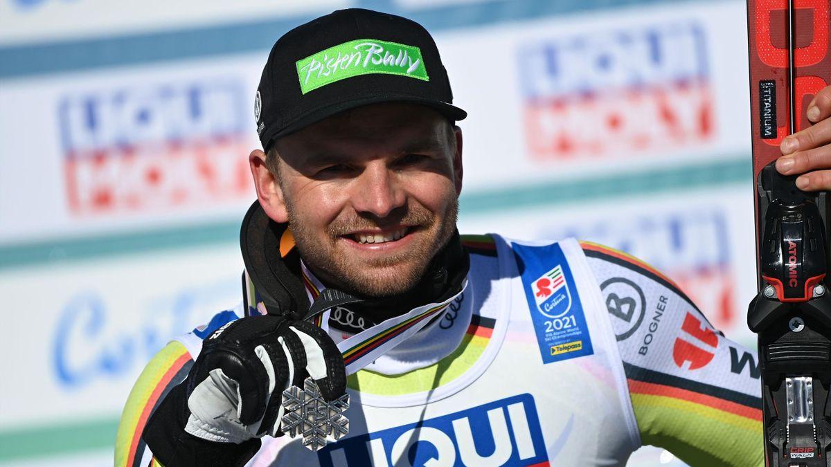 Andreas Sander holte bei der Ski-WM Silber in der Abfahrt für den DSV