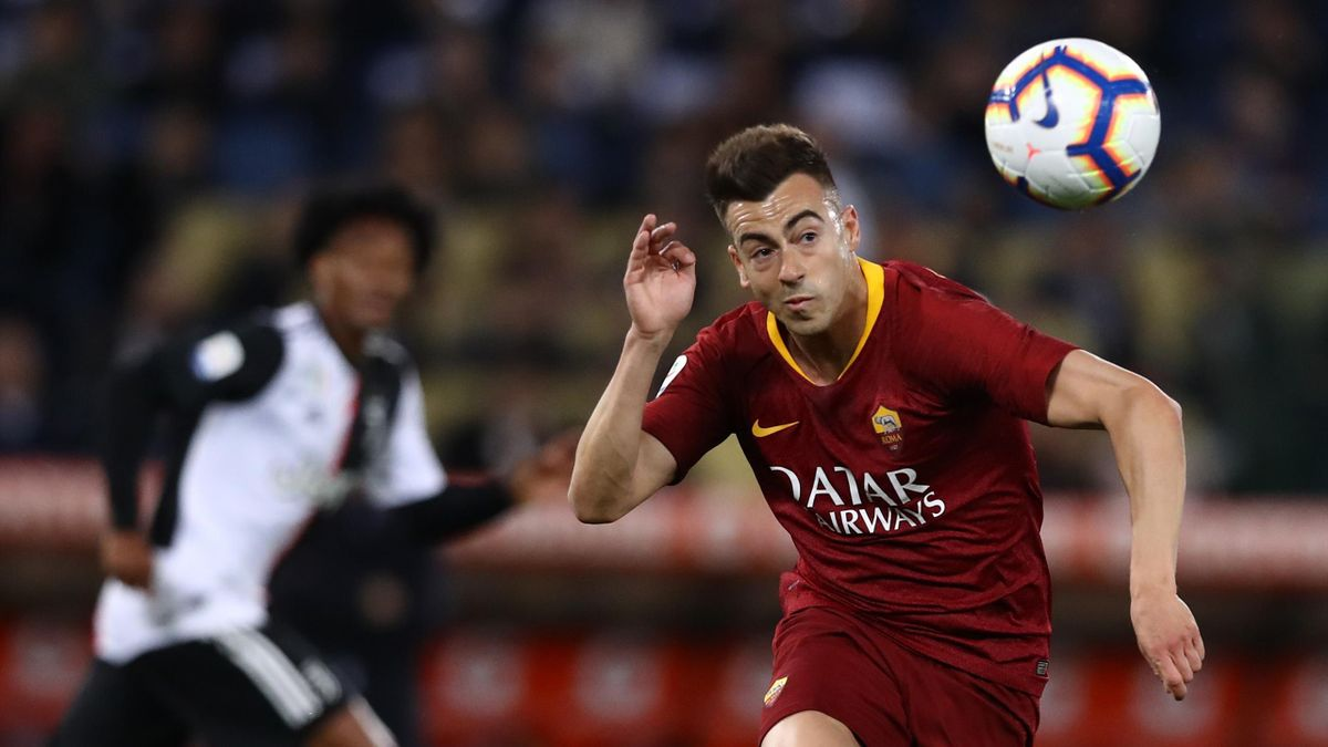 Stephan El Shaarawy in azione - Roma-Juventus Serie A 2018-19