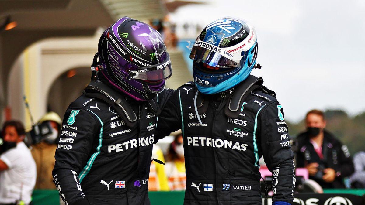 Lewis Hamilton (Mercedes), Vallteri Bottas (Mercedes) - Für den einen der Sieg, für den anderen eine gefühlte Niederlage