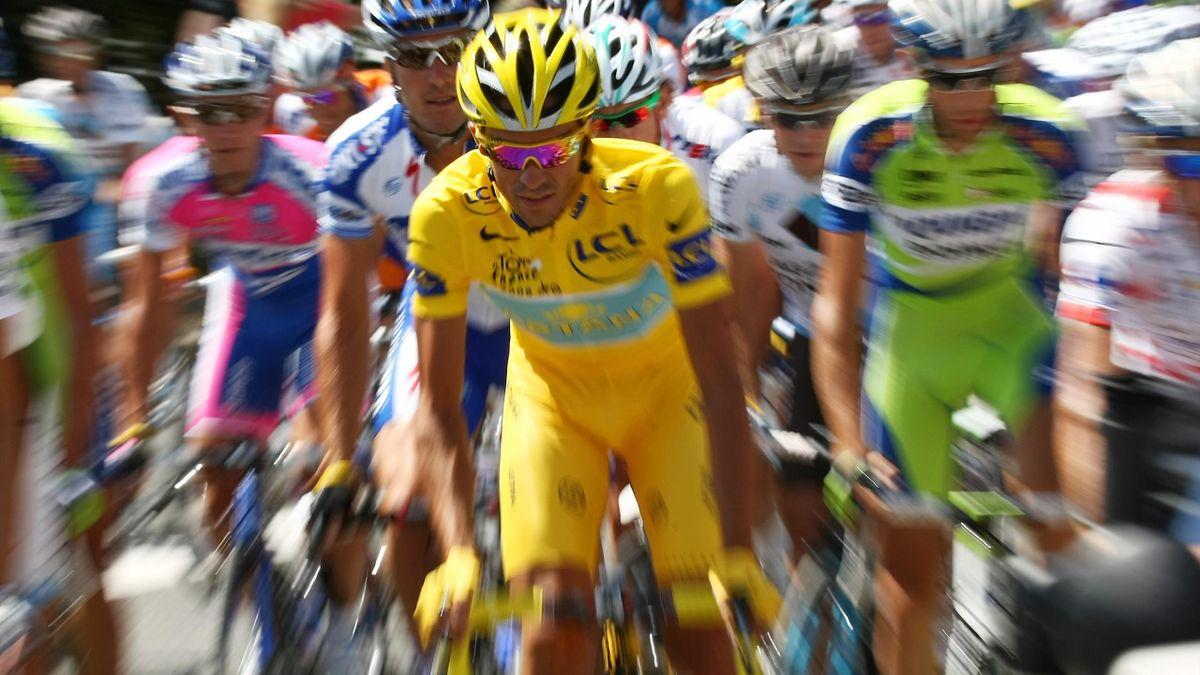 Alberto Contador, în timpul turului Franței din 2007