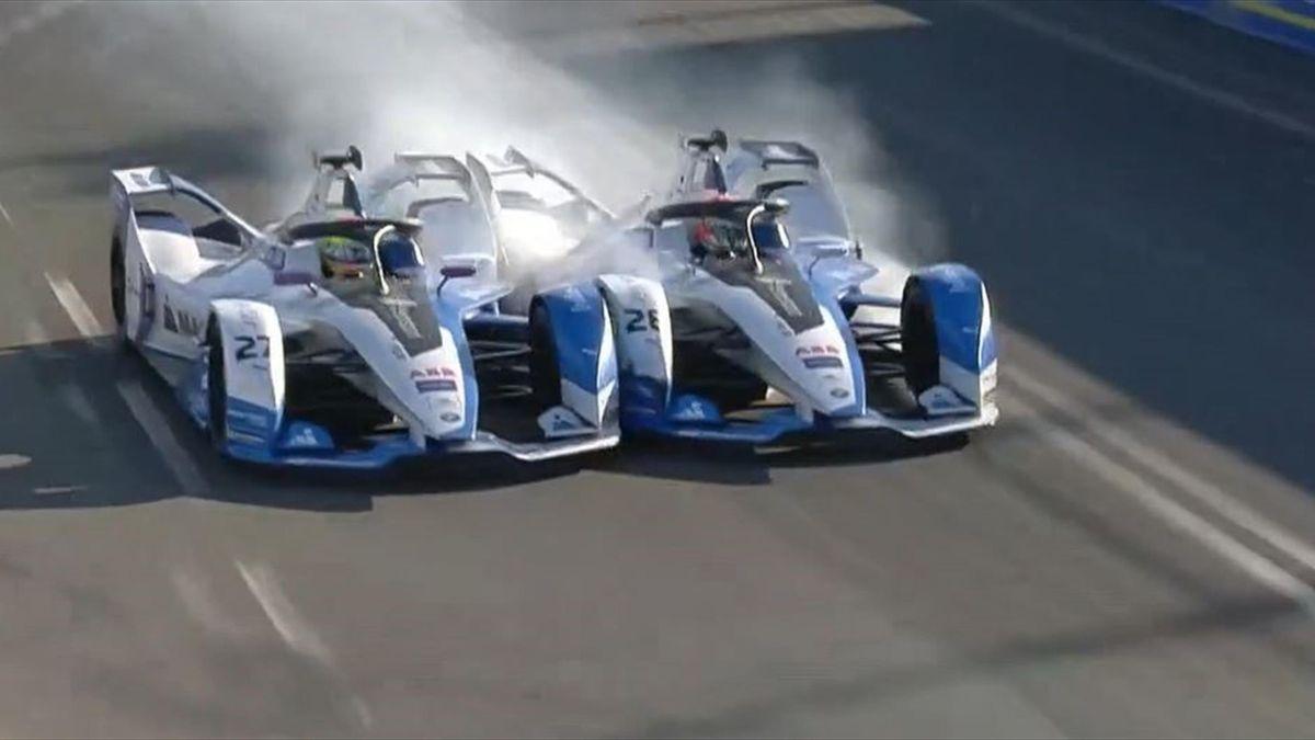 Formula E Marrakech: BMW incident
