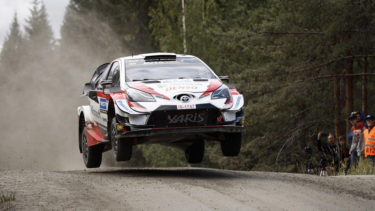 Ott Tanak lors du Rallye de Finlande 2019