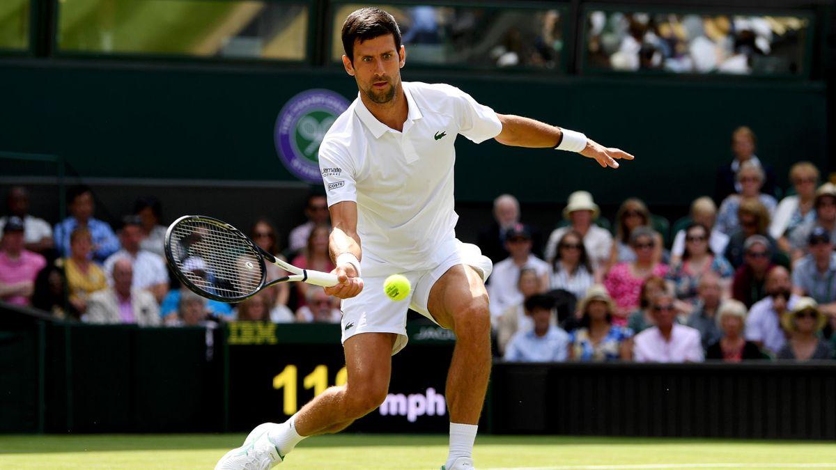 Novak Djokovic à Wimbledon en 2019