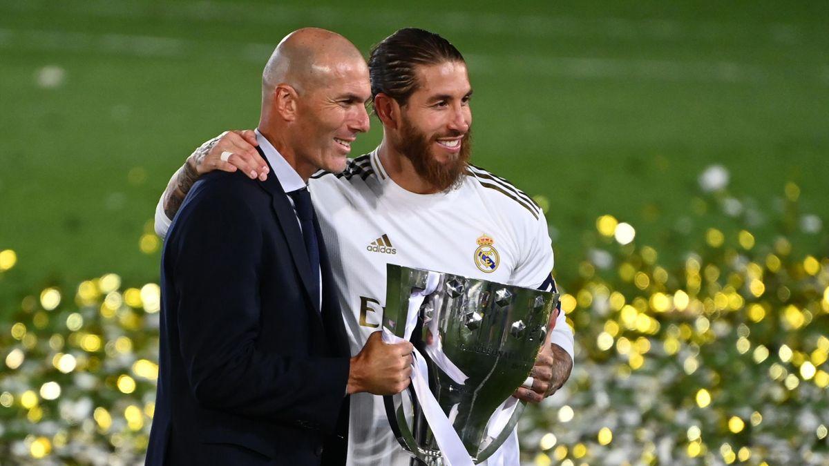 Zinédine Zidane und Sergio Ramos (re.)