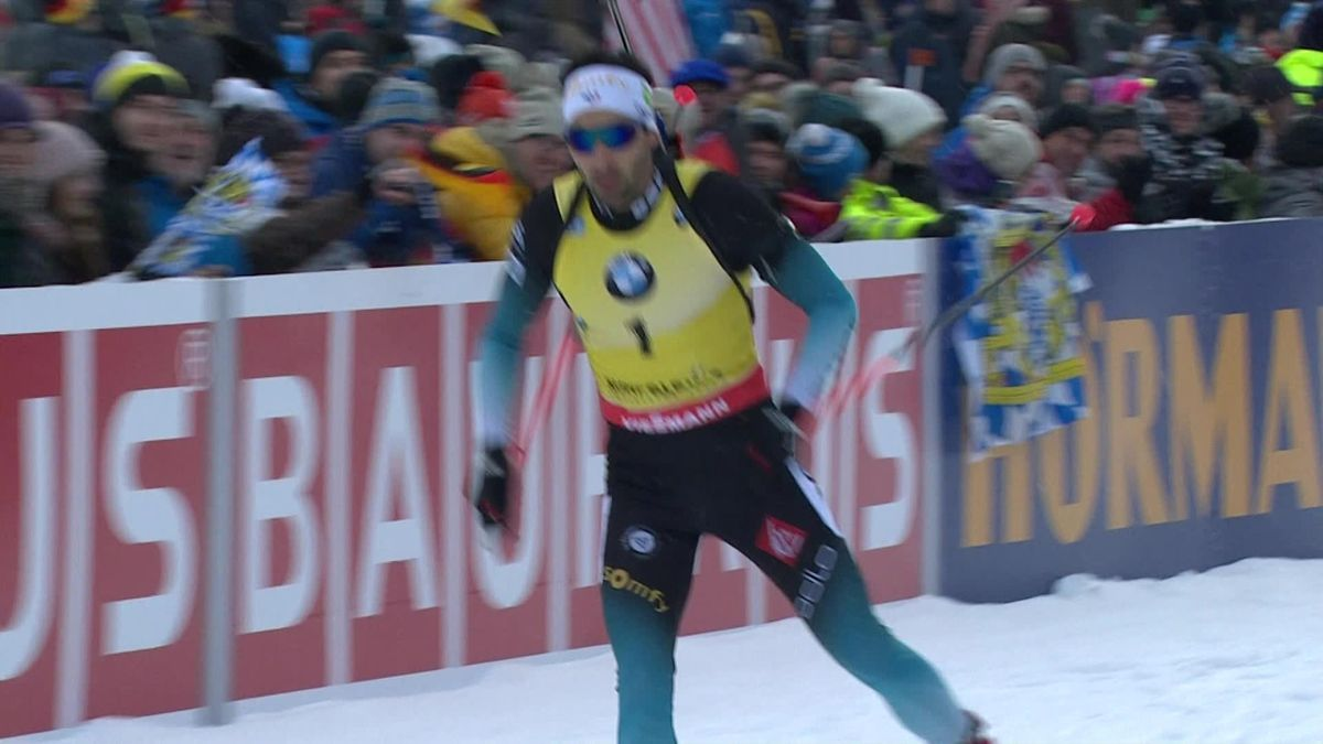 Biathlon : men 12.5 Km Pursuit - finish