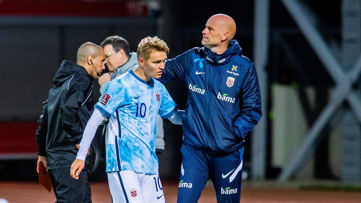 Martin Ødegaard og Ståle Solbakken