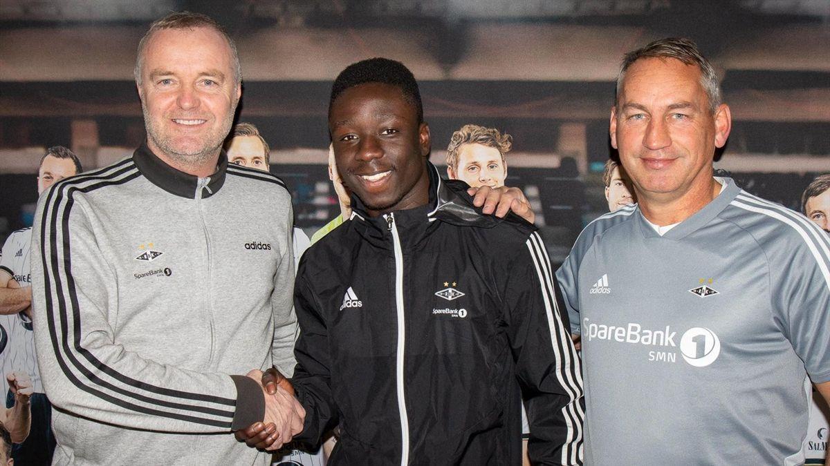 Franklin Daddys Boy Nyenetue fra da han signerte proffkontrakt med Rosenborg. (Foto: RBK.no/Frode Søraas)