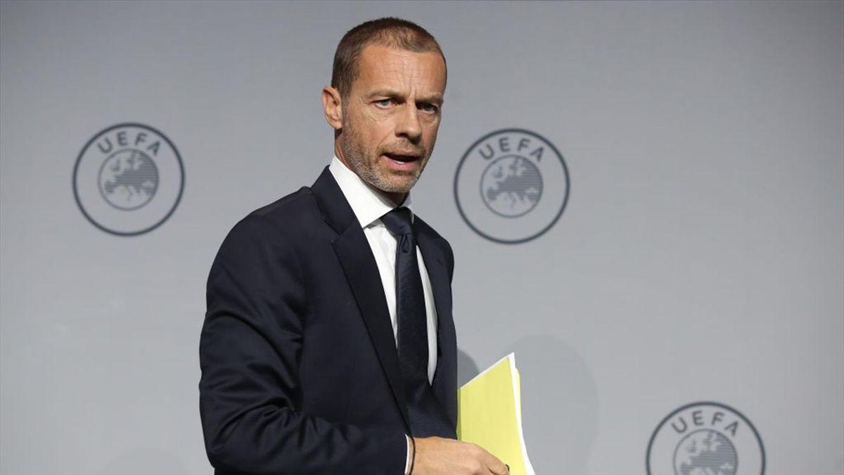 Le président de l'UEFA, Aleksander Ceferin