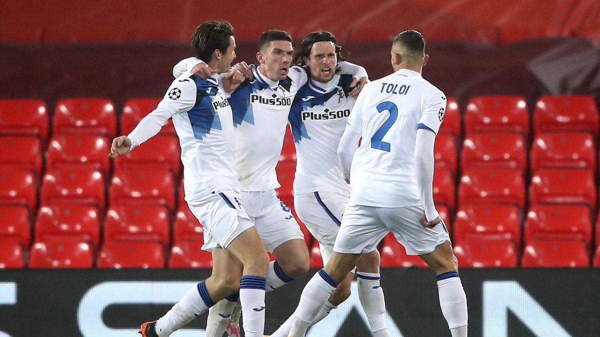 Robin Gosens esultanza, Liverpool-Atalanta, Champions League, Getty Images