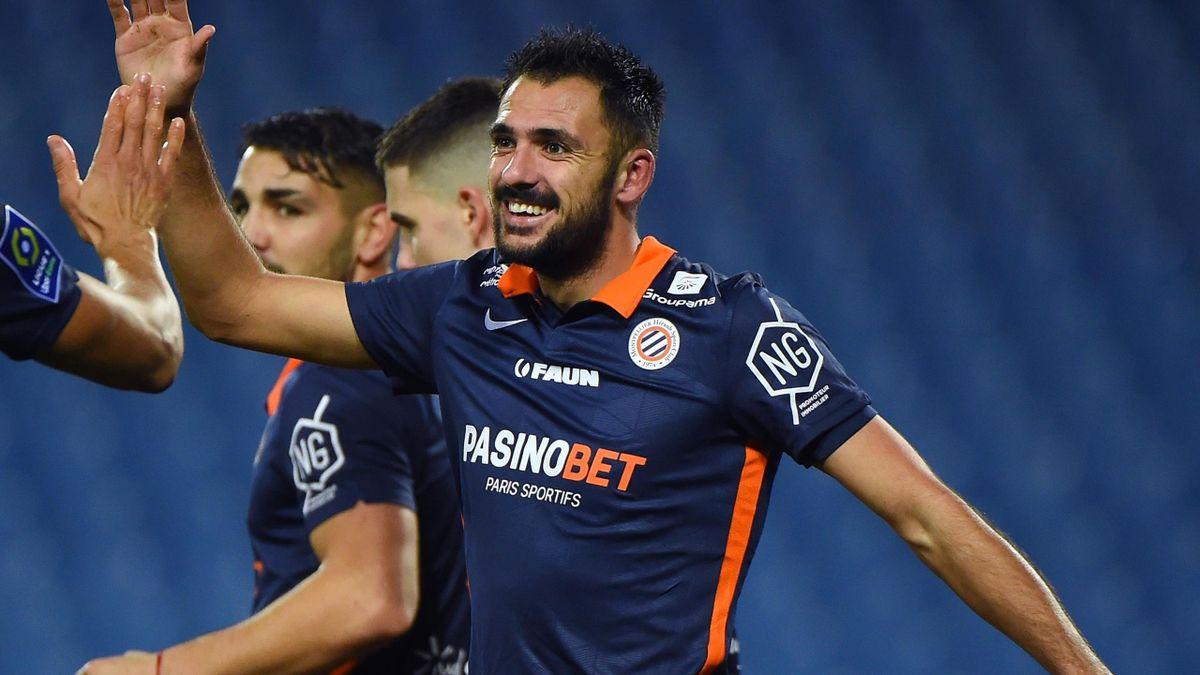 Montpellier striker Gaetan Laborde